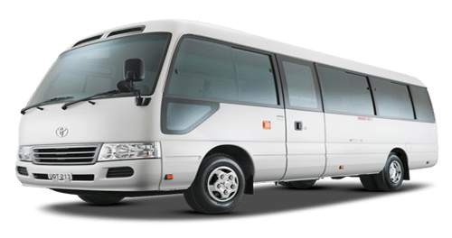 toyota coaster 4c for rent